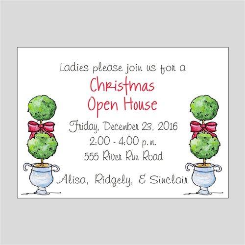Christmas Topiary Invitation Christmas Ideas Pinterest