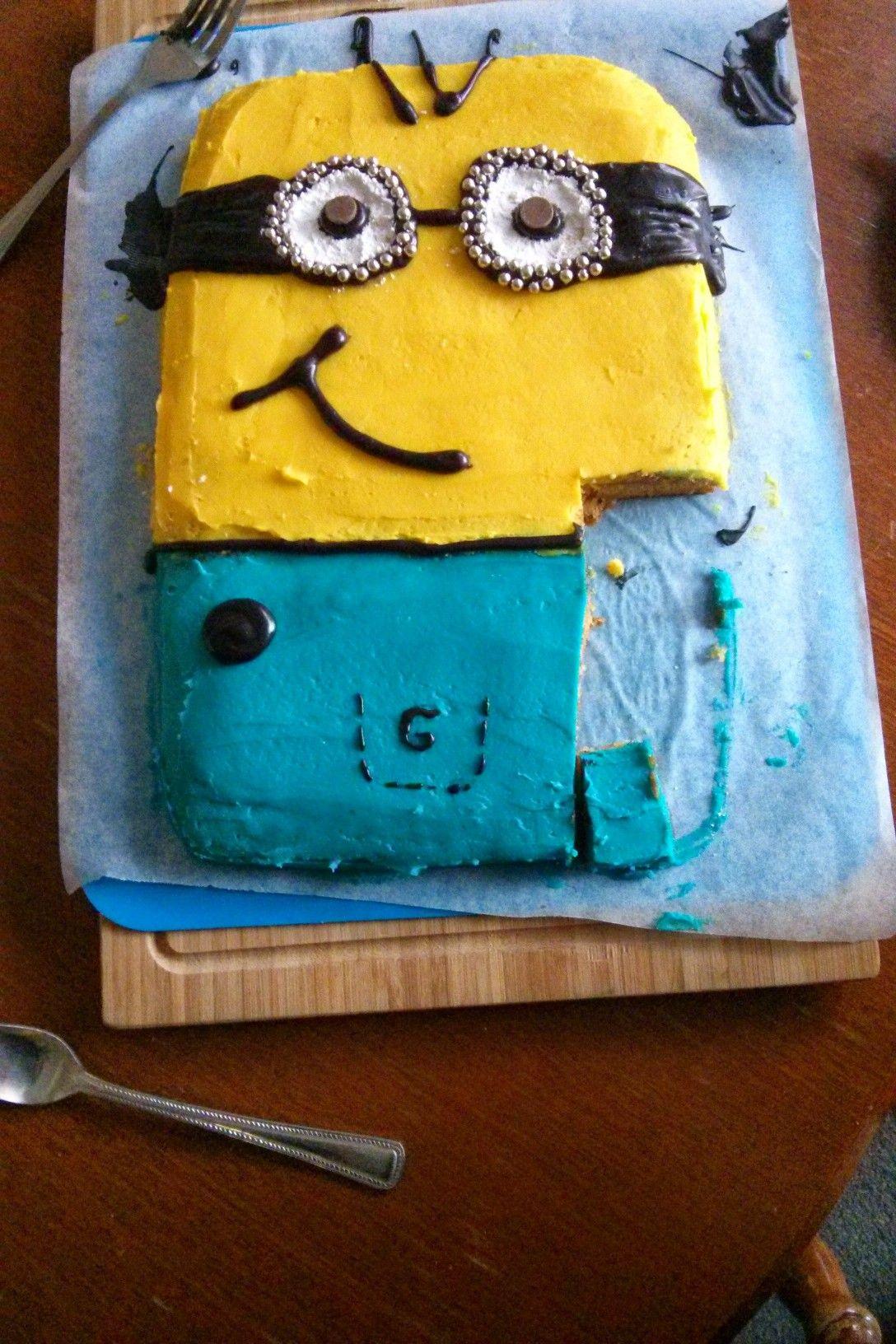Kevin birthday cake minion 2014 I made this Pinterest