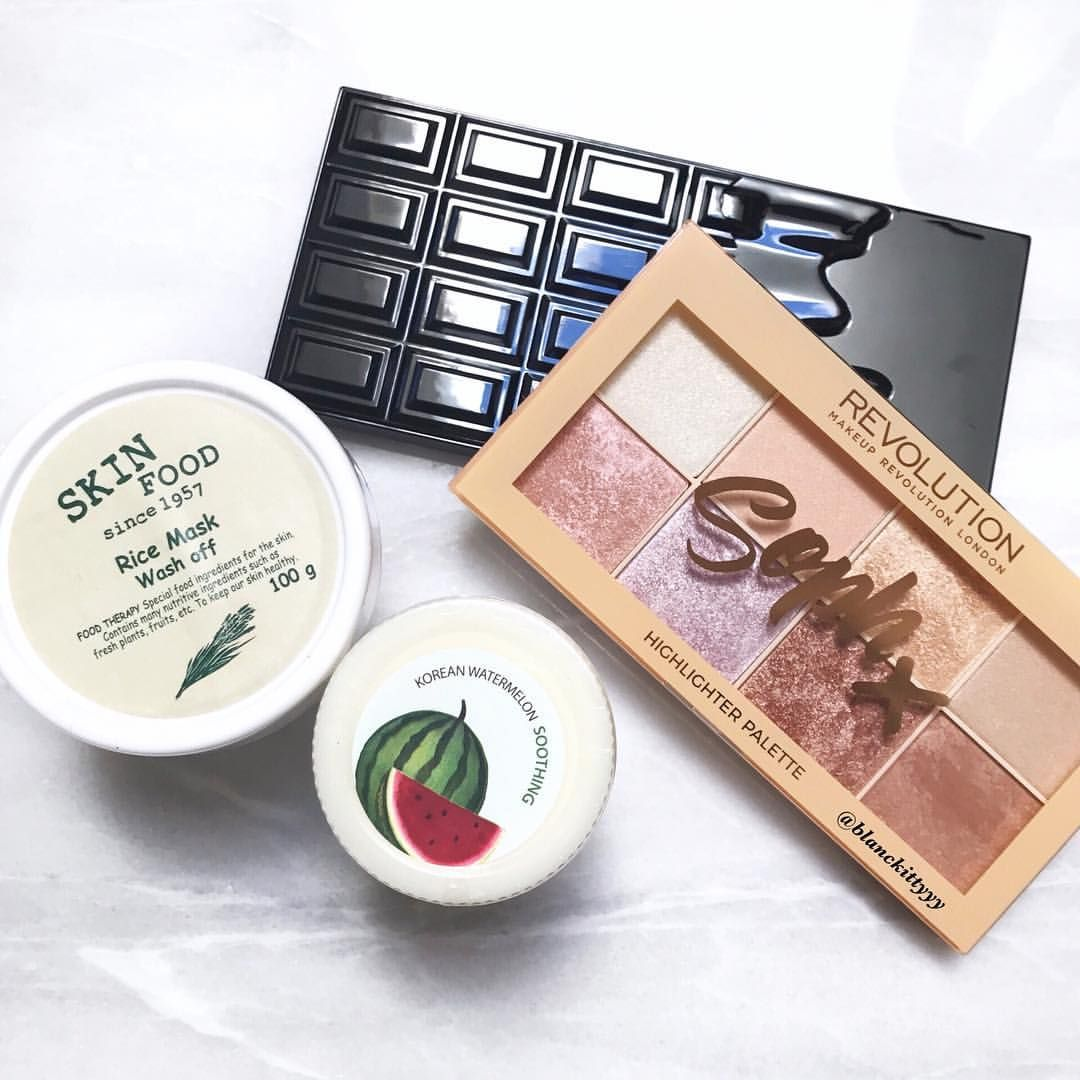 Skinfood Rice Mask Wash Off Skinfood Freshmade Watermelon Mask Makeup Revolution Chocolate Vice Chocolate Skin Food Chocolate Bar Eyeshadow Rice Mask