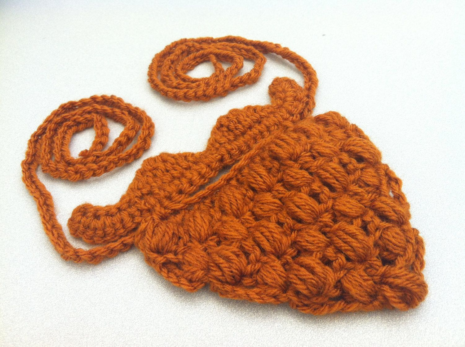 Crochet Beard Pattern | Crochet Mustache with Attached Beard by TheContraryCanary on Etsy #crochetedbeards