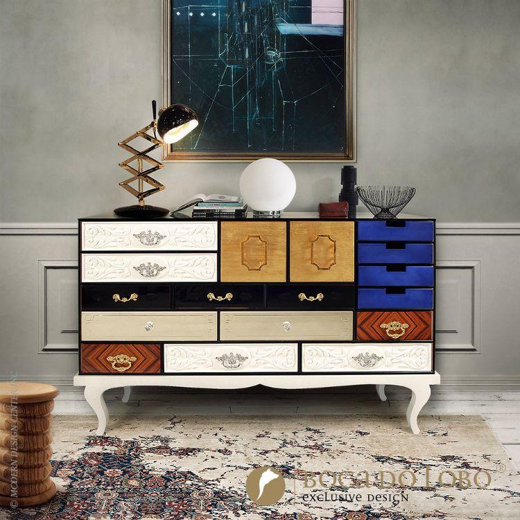 Soho Sideboard - Vintage Cabinets | www.bocadolobo.com #luxuryfurniture #designideas #creativeinspirations #soho #cabinet