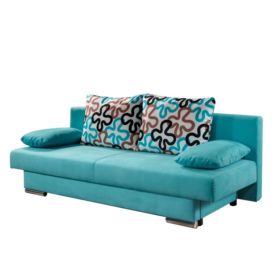 canap convertible rijeka microfibre turquoise 350. Black Bedroom Furniture Sets. Home Design Ideas