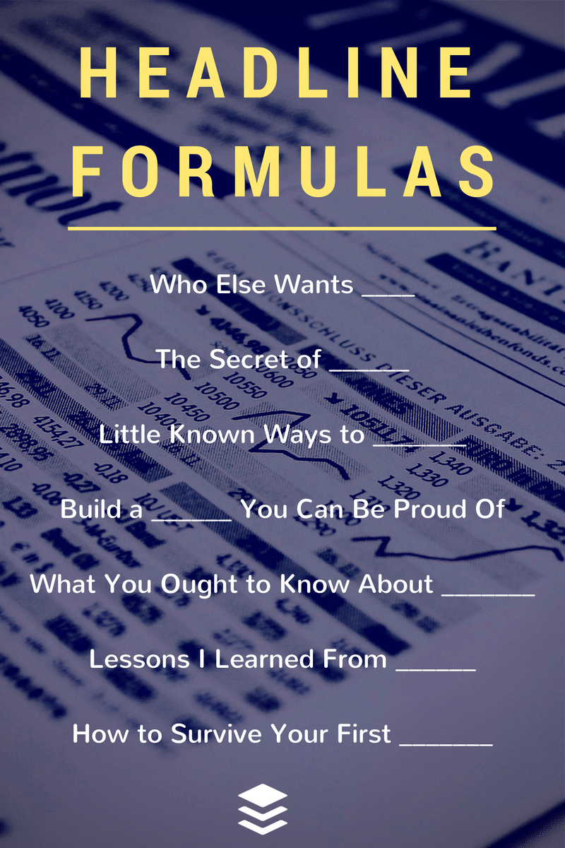 30 Ultimate Headline Formulas For Tweets Posts And Emails Content Marketing Marketing Tips Blog Writing