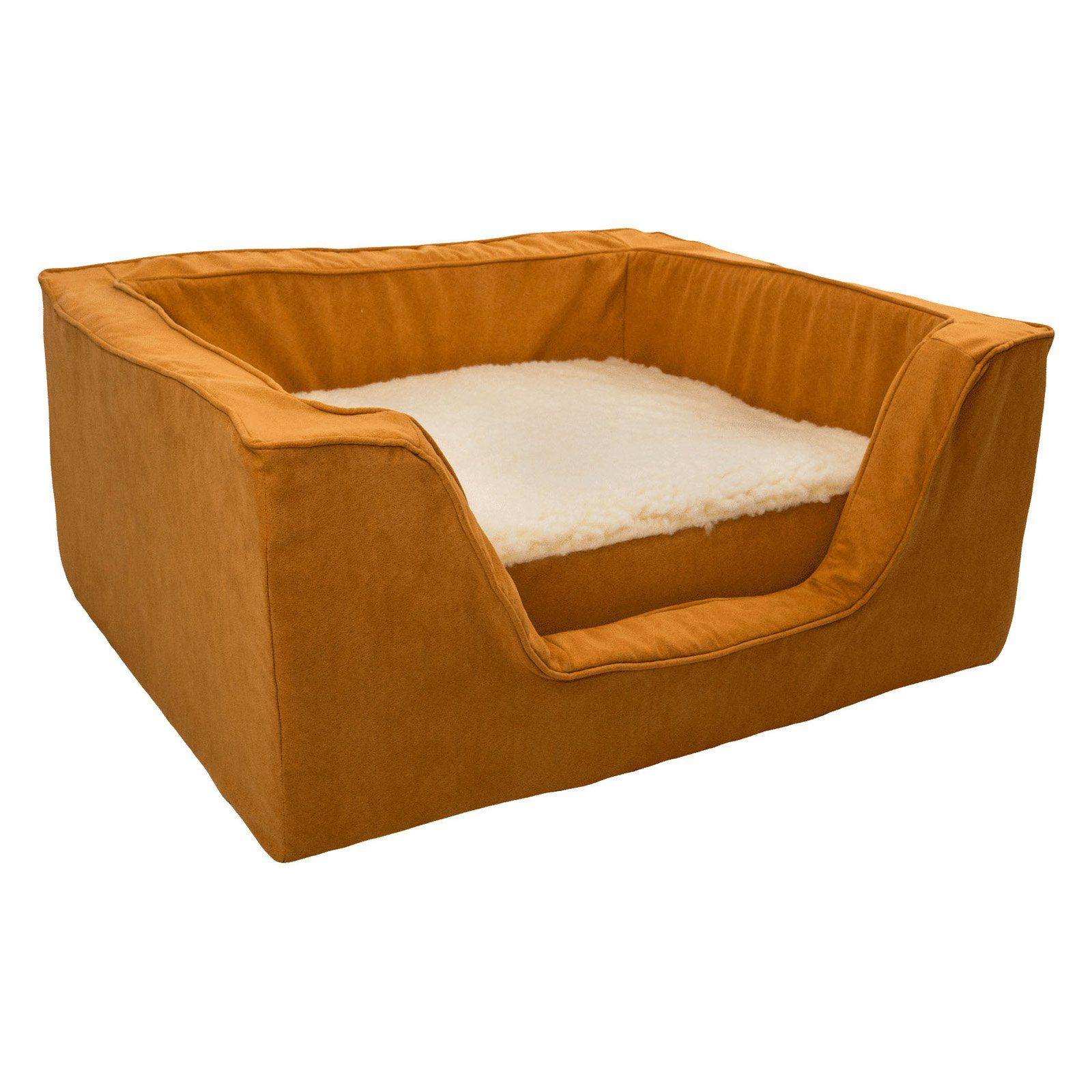 Snoozer Luxury Square Dog Bed with Memory Foam Orangeade