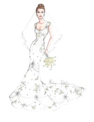 mermaid style wedding dresses drawing - Google Search | Art dress ...