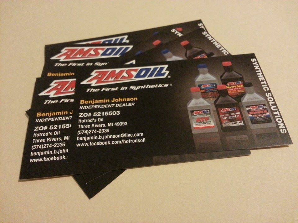 My awesome business cards for my Amsoil Dealership. If you are ...