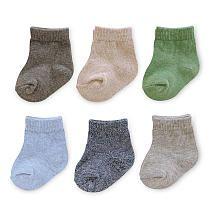Carter's Boys 6 Pack Heathered Socks
