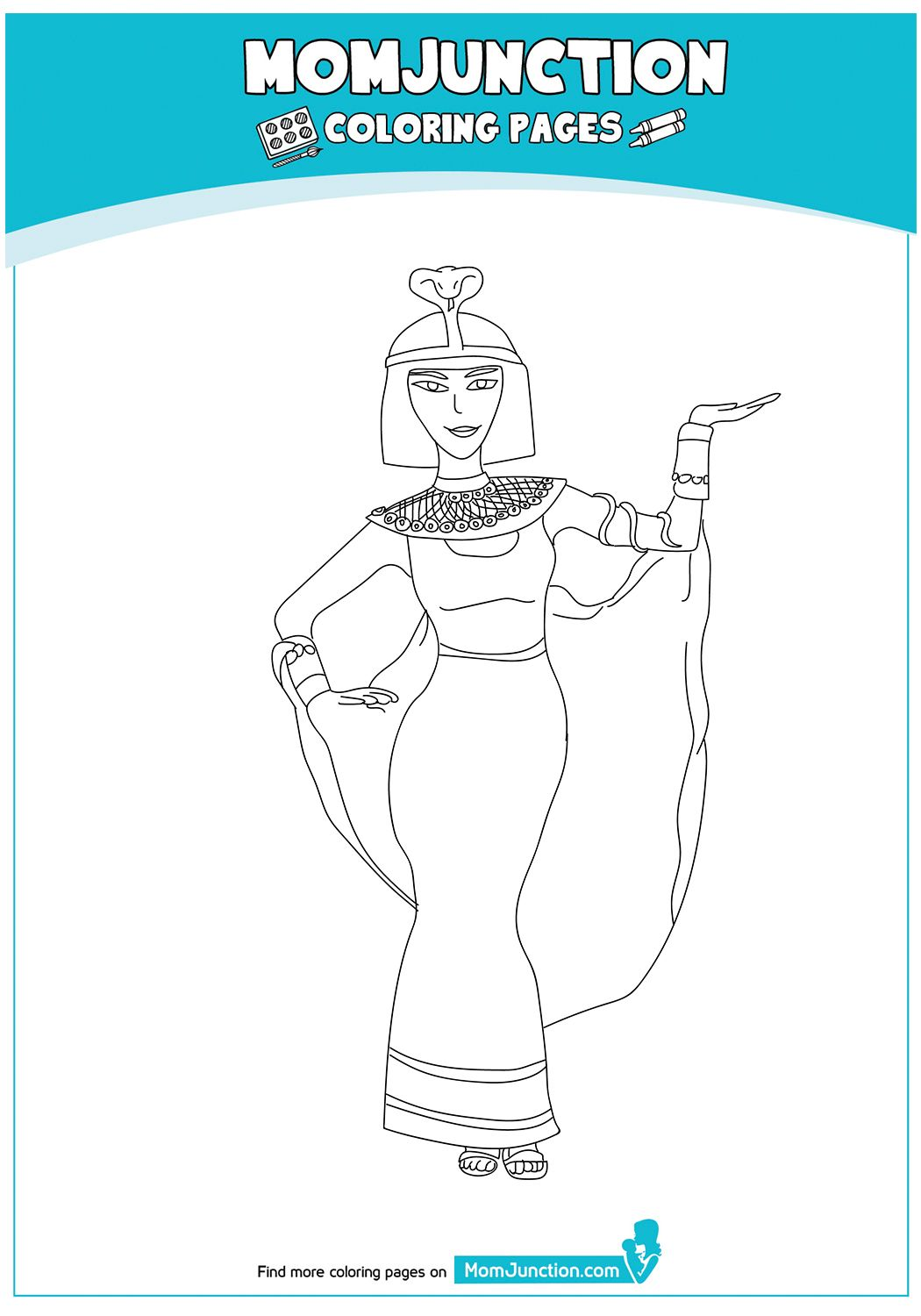 Cleopatra-20  Mom junction, Coloring pages, Teaching history