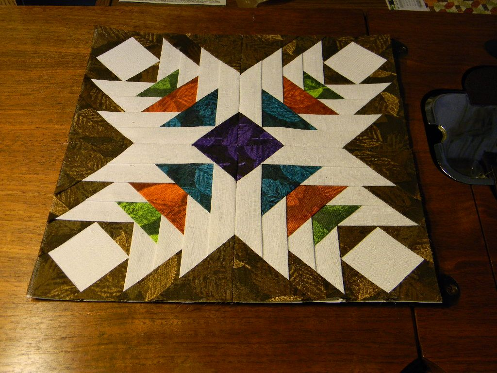 My January Block for the Carol Doak Quilting Group BOM on ... - photo#14