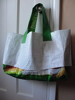 How To Make A Recycled Dog Food Bag Garden Tote Bag Garden Bags