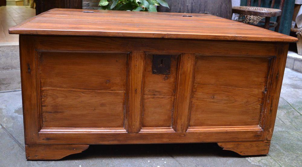 Mobile Credenza Con Ruote : Grande cassapanca in abete antico con ruote legno h