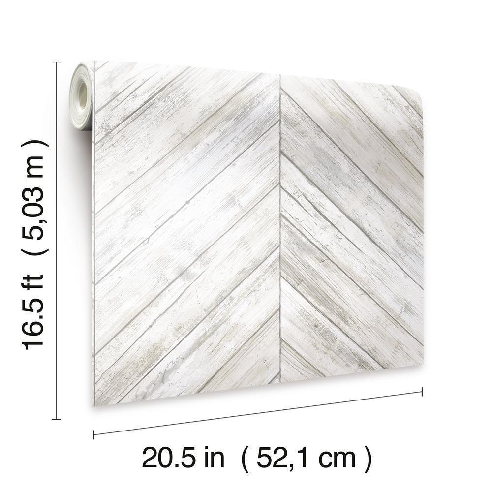 Herringbone Wood Boards Peel And Stick Wallpaper In 2021 Peel And Stick Wallpaper Herringbone Wood Wood Accent Wall