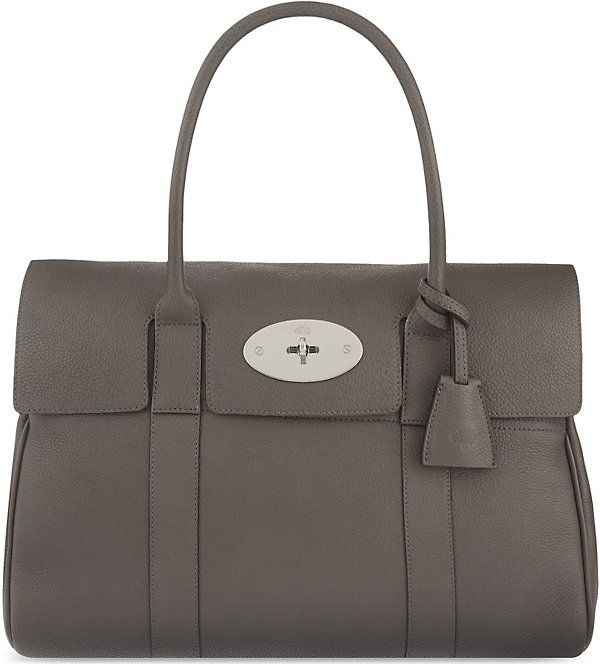 facc058c70 MULBERRY Bayswater Bag in Mole Grey with Silver Detail. Classical Fashion  Item.