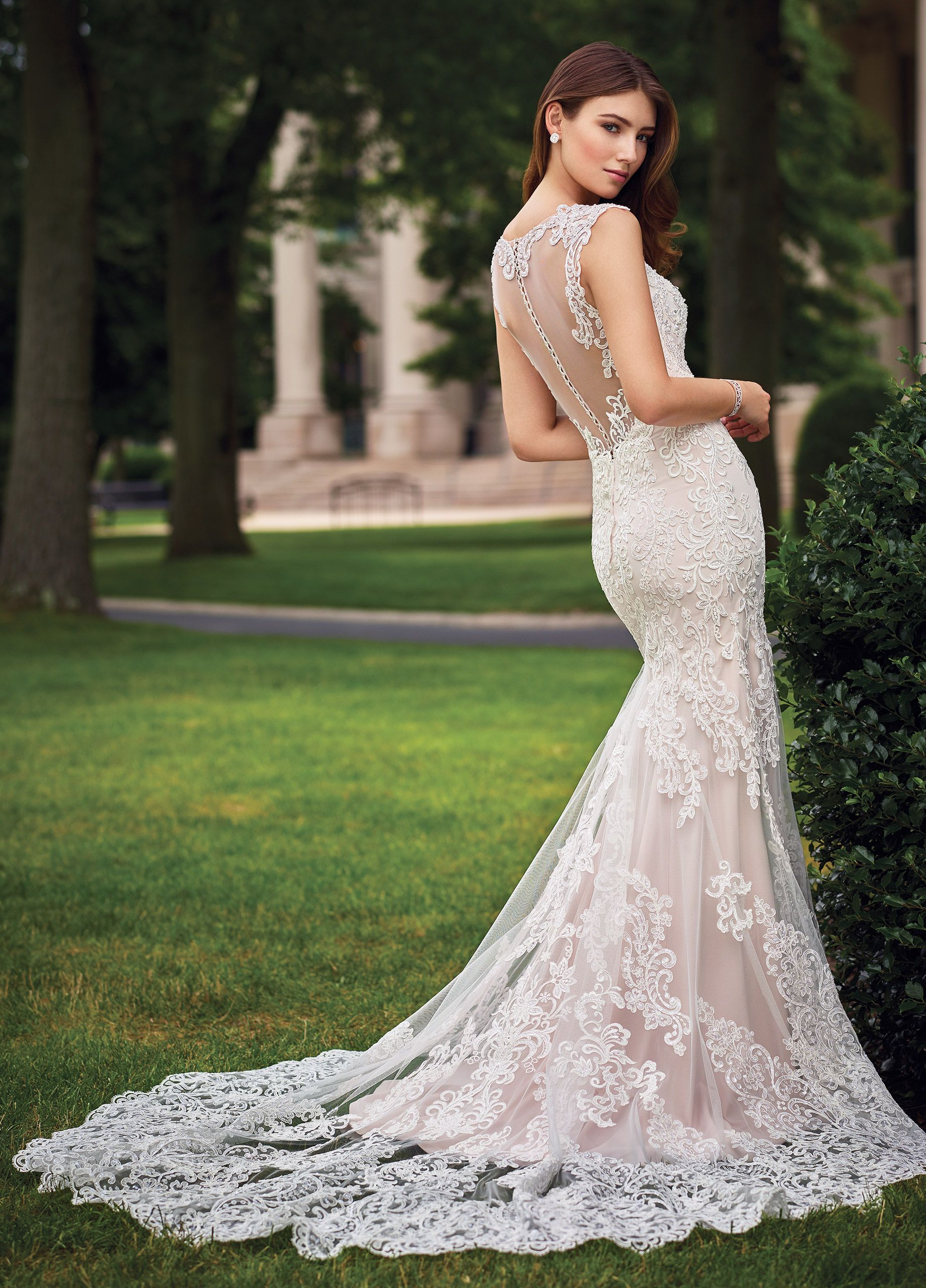 Illusion lace wedding dress  Fitted Lace CapSleeved Wedding Dress  Sonal  Beaded lace