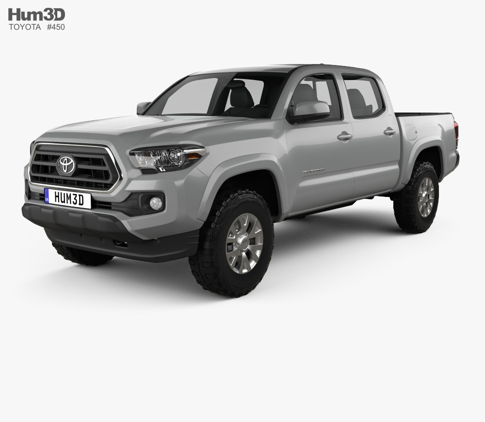 3D model of Toyota Double Cab Short Bed SR5 2014