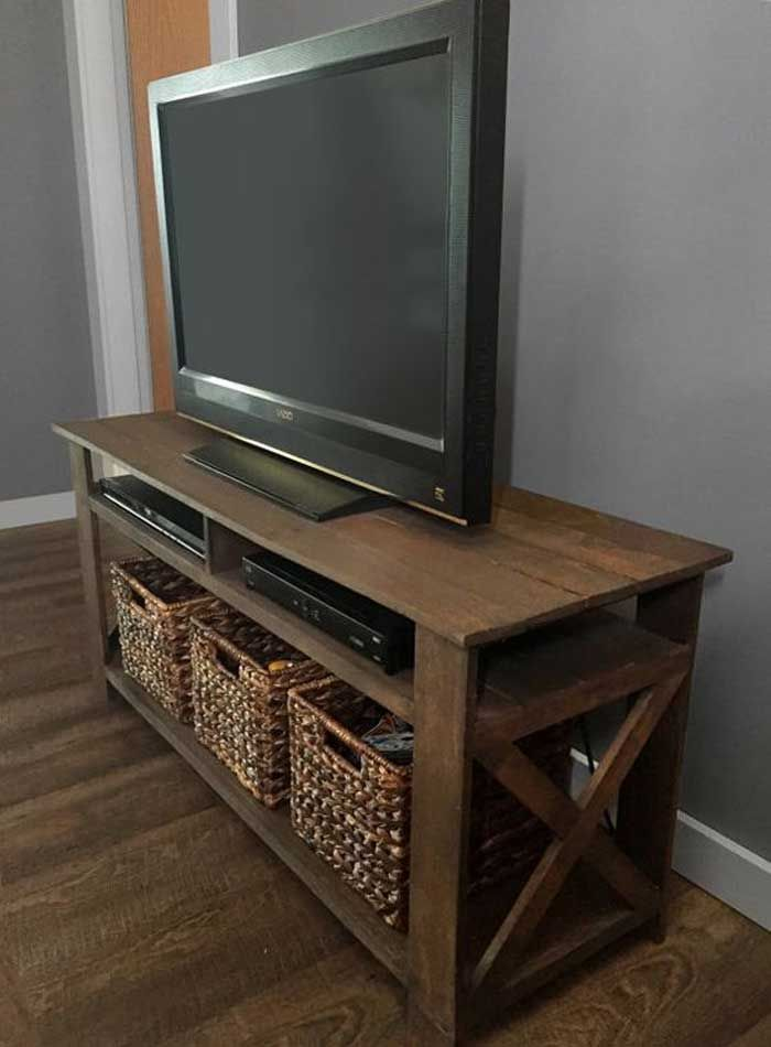 Rustic Pallet Tv Stand Plans By Kelscahill On Etsy Pallet Tv