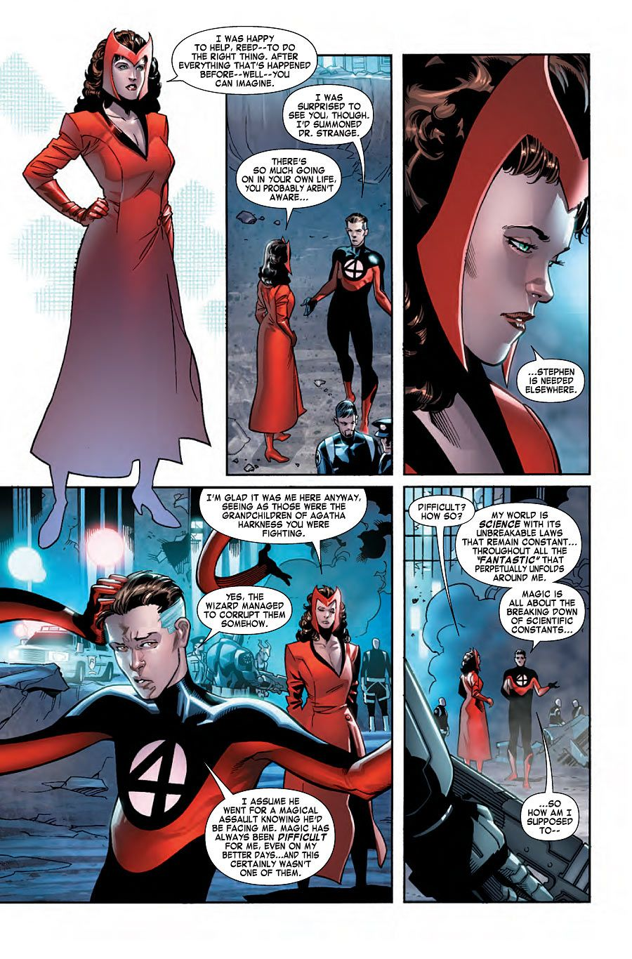 Scarlet Witch And Mr Fantastic Scarlet Witch Marvel Scarlet Witch Scarlett Witch