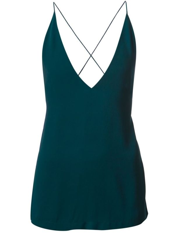 Emerald green open back cami top from Dion Lee. £185.00 by farfetch