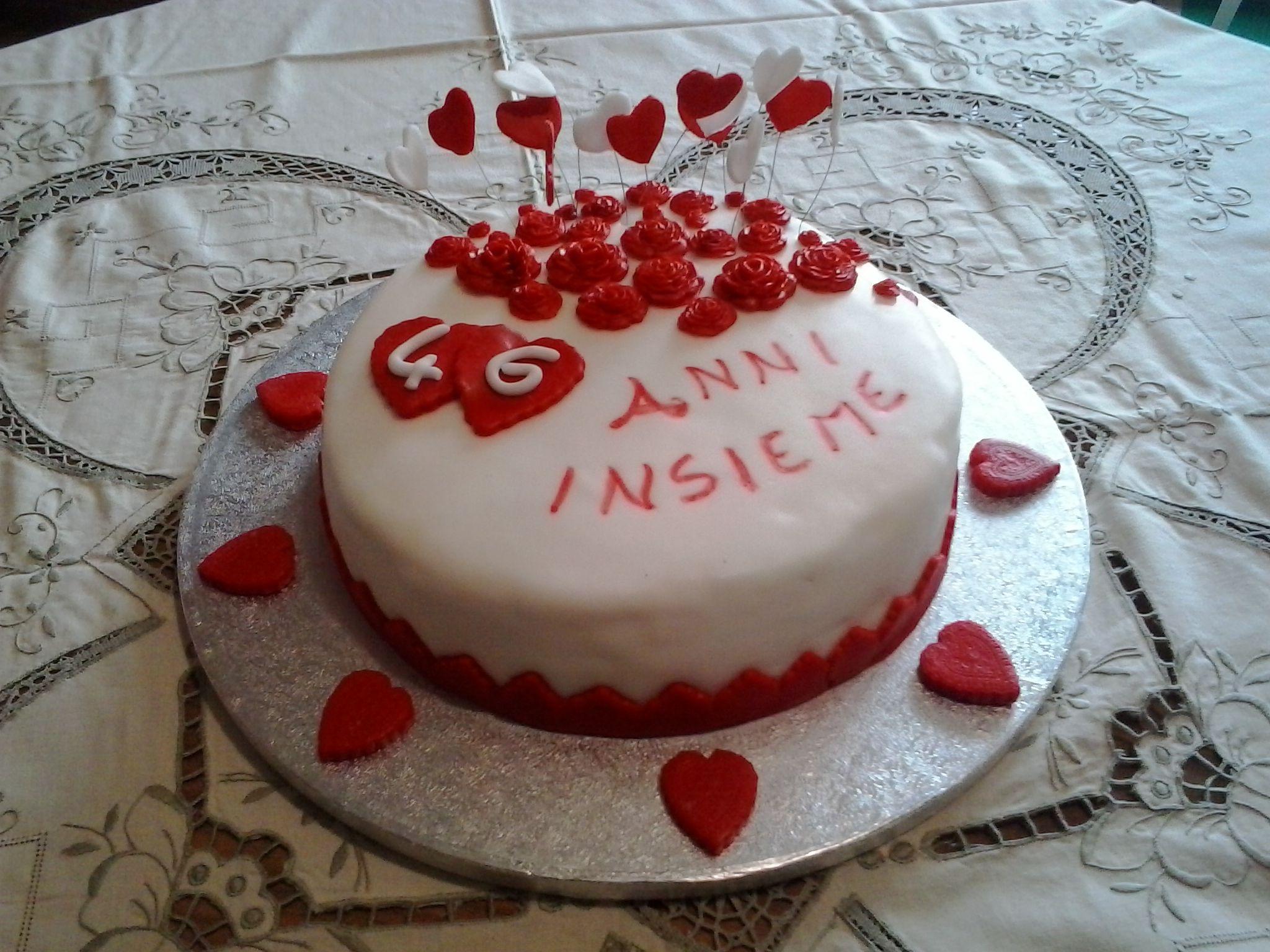Anniversario Di Matrimonio 46 Anni.Torta 46 Anniversario Di Matrimonio