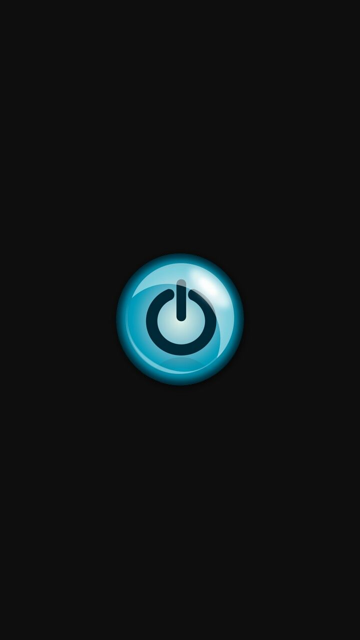 Blue glow power button iphone wallpaper | iPhone Black wallpapers | Pinterest | Iphone wallpaper ...