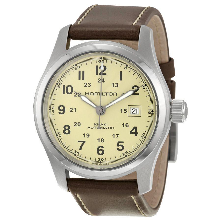 acdec18404f Hamilton Khaki Field Automatic Beige Dial Men s Watch H70555523 ...