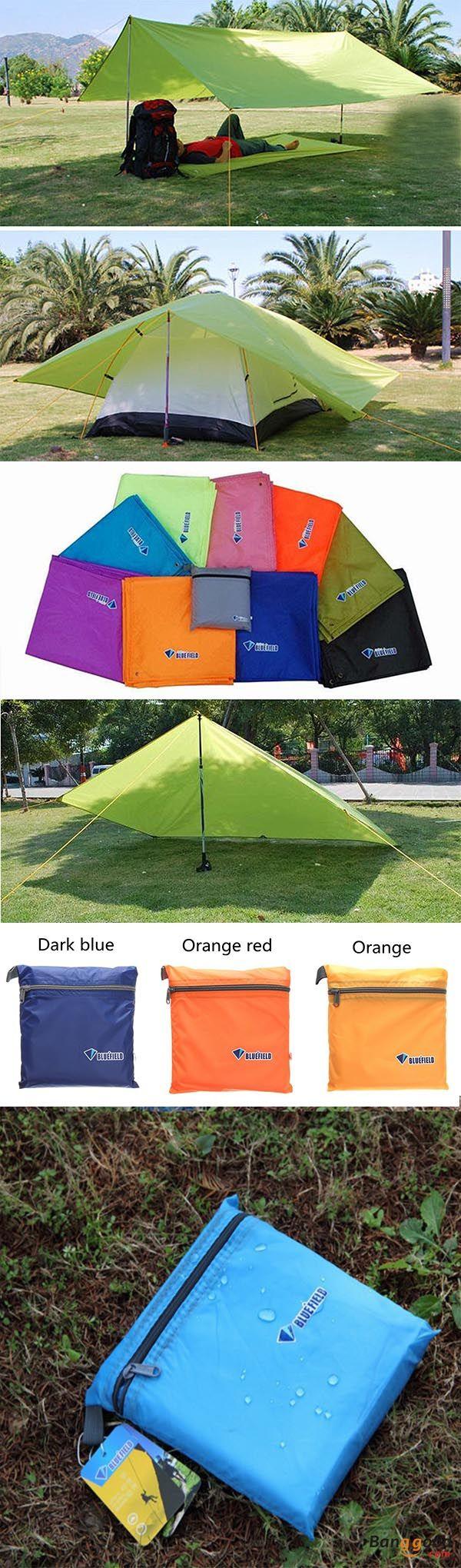 Photo of US$9.99~11.99 + Free shipping. 250 x 150CM, portable camping tent, sunshade tent…
