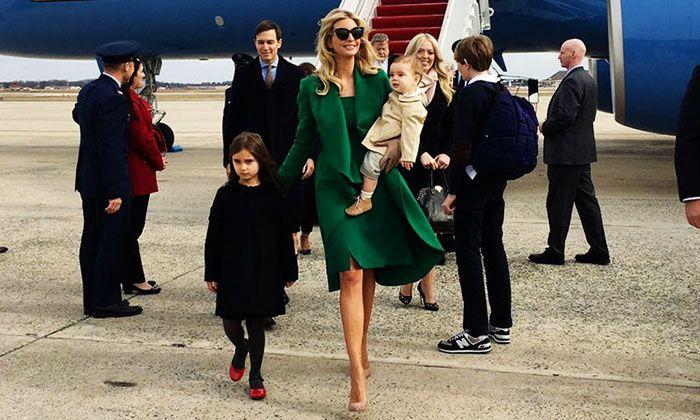 Los hijos de Ivanka Trump usaron looks de más de 1700 dólares durante la inauguración