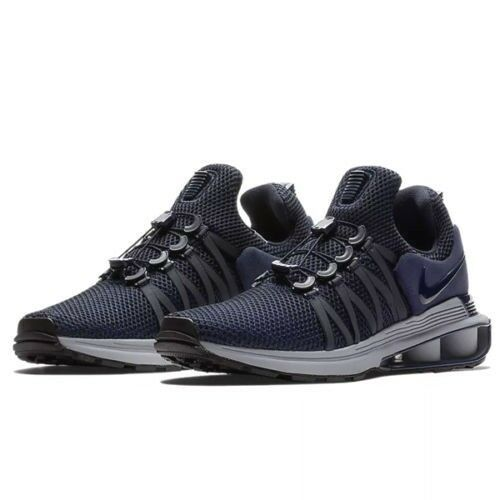 Nike Shox Gravity Mens Running Shoes Obsidian 10 Wolf Grey Midnight Navy   Nike  RunningShoes f8ed1d832