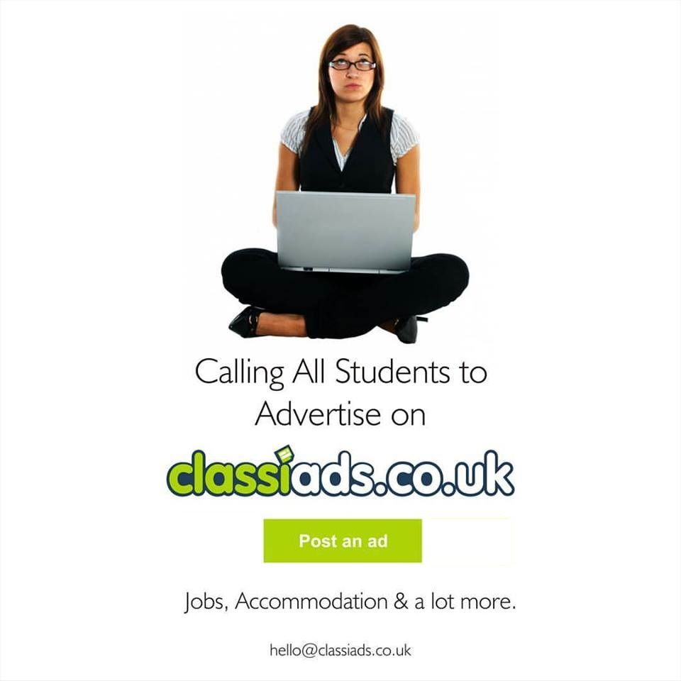 Calling all students to Advertise on Classiads.co.uk
