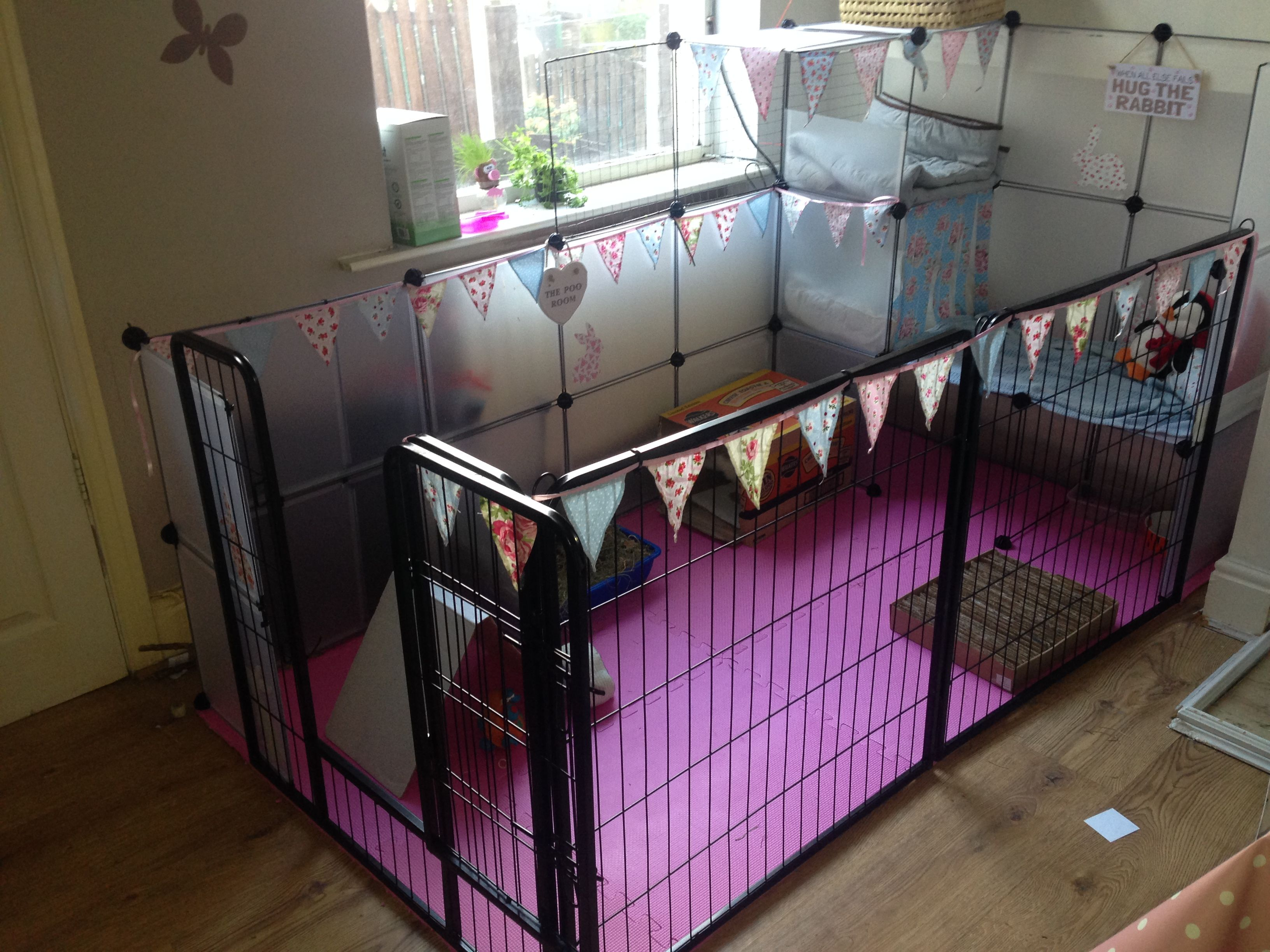 Indoor Rabbit Cage Enclosure Pen Indoor Rabbit Cage Diy Rabbit