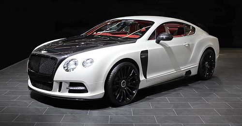Performance Car Black White Bentley Gt Luxury And Power Auto