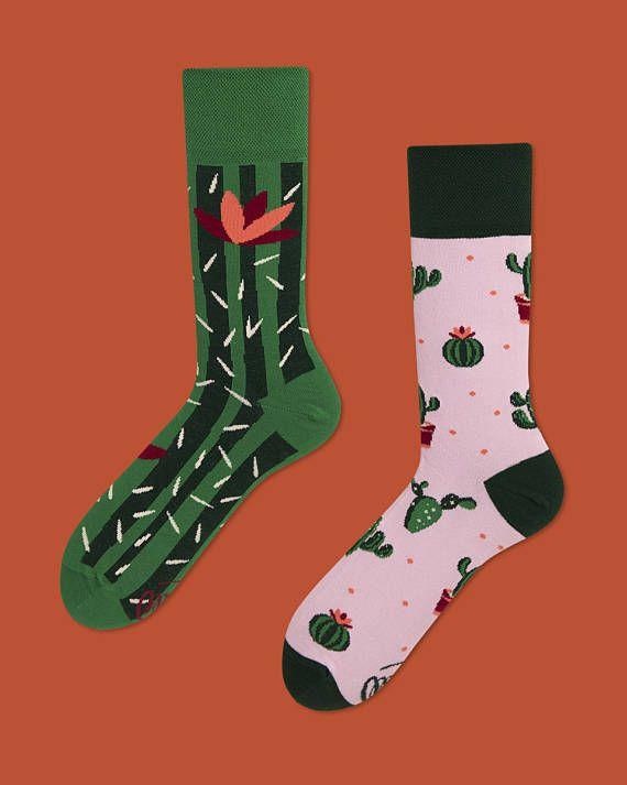 59130001f07a Summer Cactus   men socks   colorful socks   cool socks   mismatched socks    womens socks   unique socks   patterned socks   crazy socks