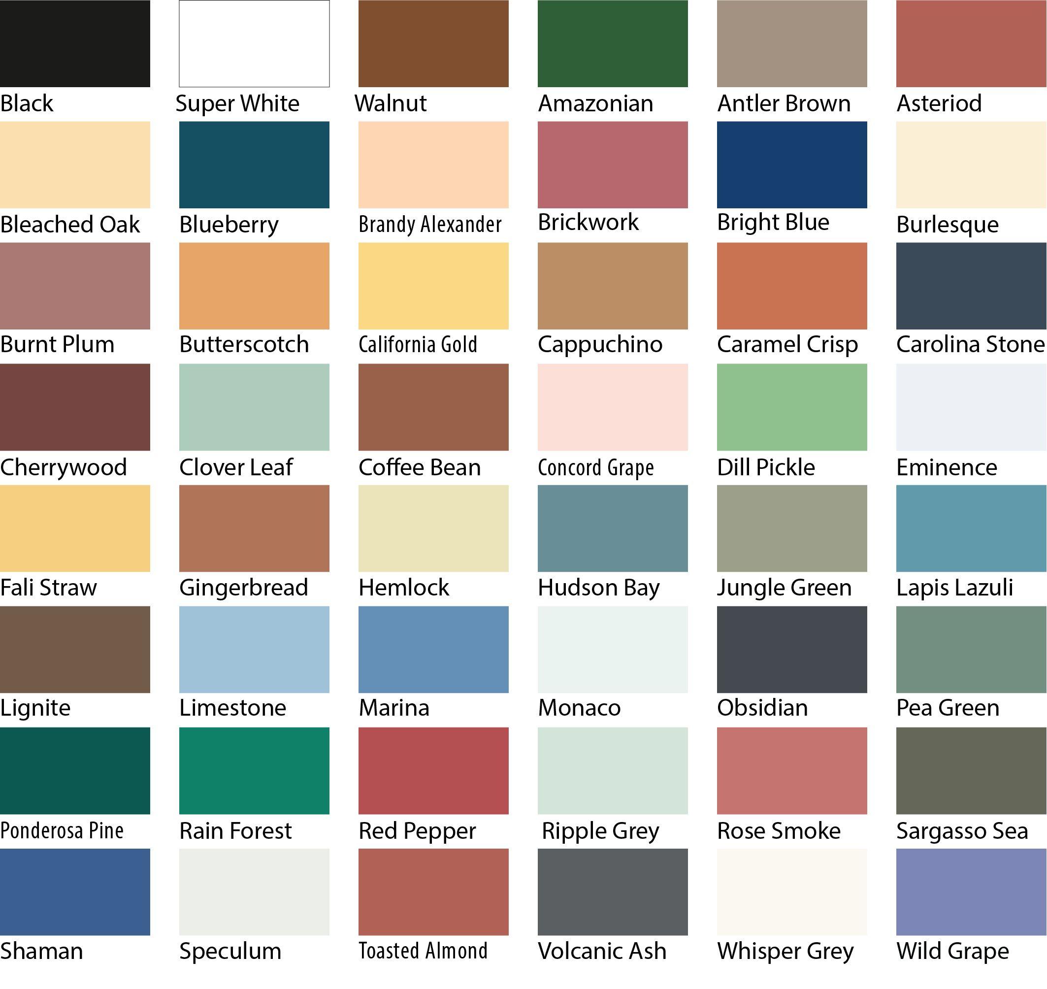 Sadolin Superdec Colour Chart Dulux Paint Colour Charts Paint Color Chart Dulux Paint Colours