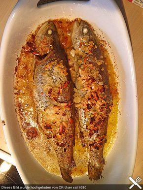 Lachsforelle in Zwiebel-Knoblauchbutter #seafooddishes