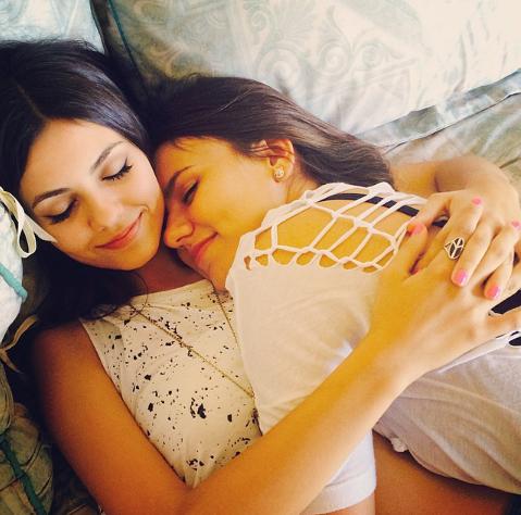Cute lesbian sisters