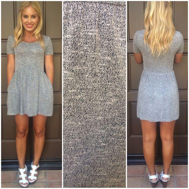 Trudy Short Sleeve Babydoll Dress WITH POCKETS