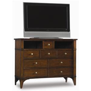 Hooker Furniture Abbott Place 8 Drawer Media Chest - Wayside Furniture - Chest - Media Chest Akron, Cleveland, Canton, Medina, Youngstown, Ohio