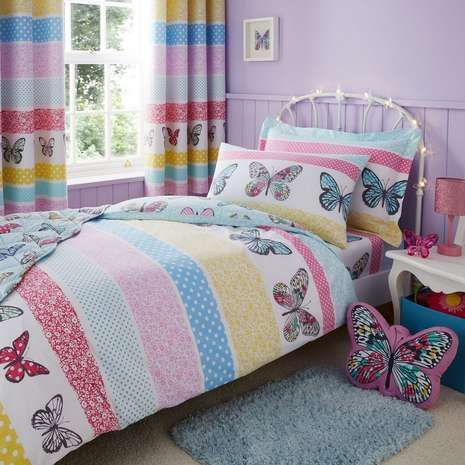 Floral Butterfly Bed Linen Collection | Dunelm