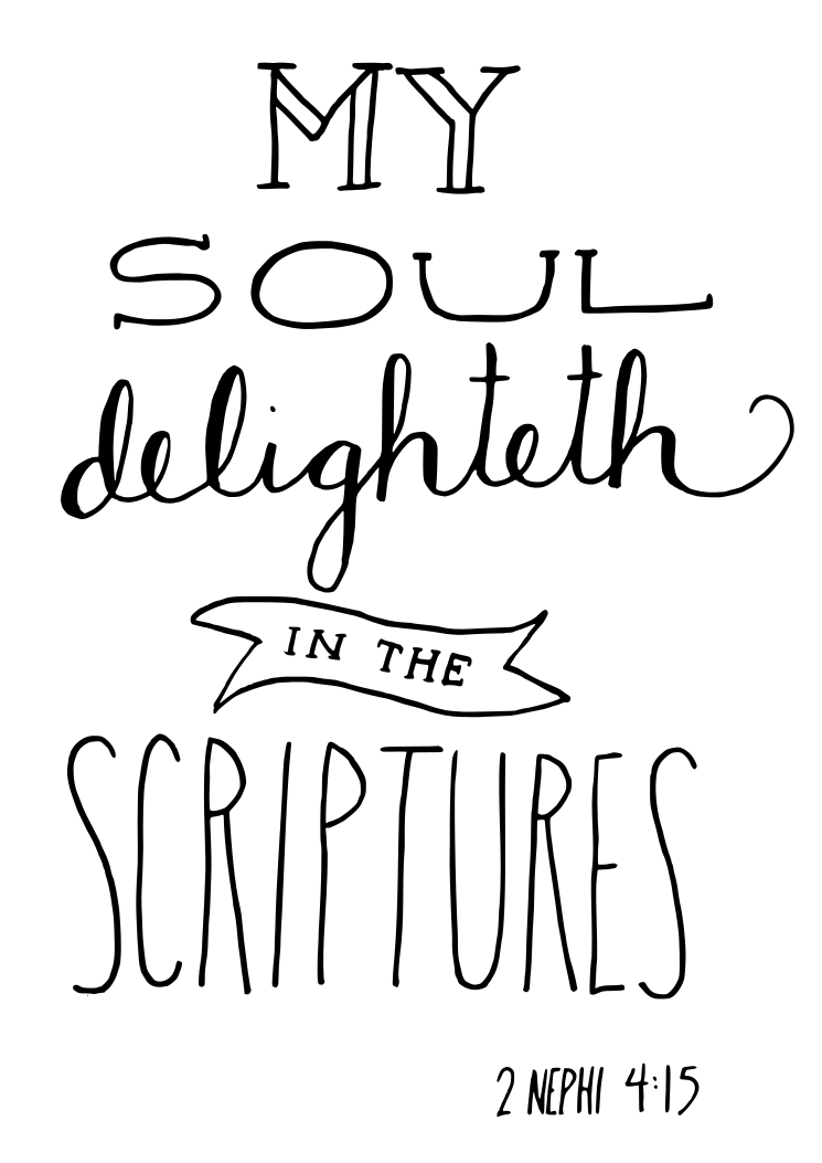Book Of Mormon Scripture Hand Lettered Would Be Perfect To Draw On Cool Book Of Mormon Quotes
