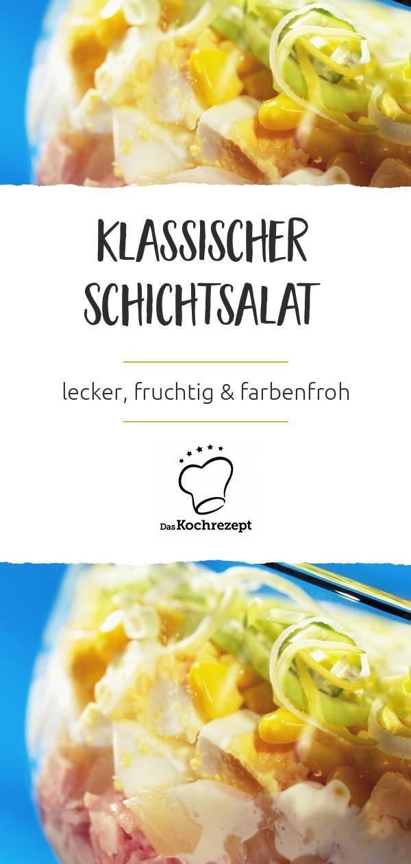 Klassischer Schichtsalat
