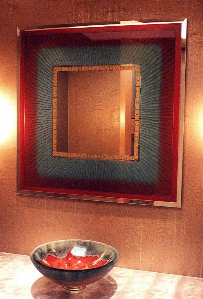 Mirror Decorative Bathroom Mirrors Vibrance Decorative Mirrors With Etched Glass Designs