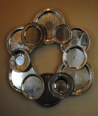 Sweet Beginnings Pinterest Project Silver Tray Wreath Silver Tray Decor Silver Trays
