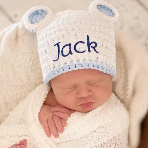 Melondipity Boy Visor Beanie Crochet Baby Hat Striped Red Green Blue White Knit