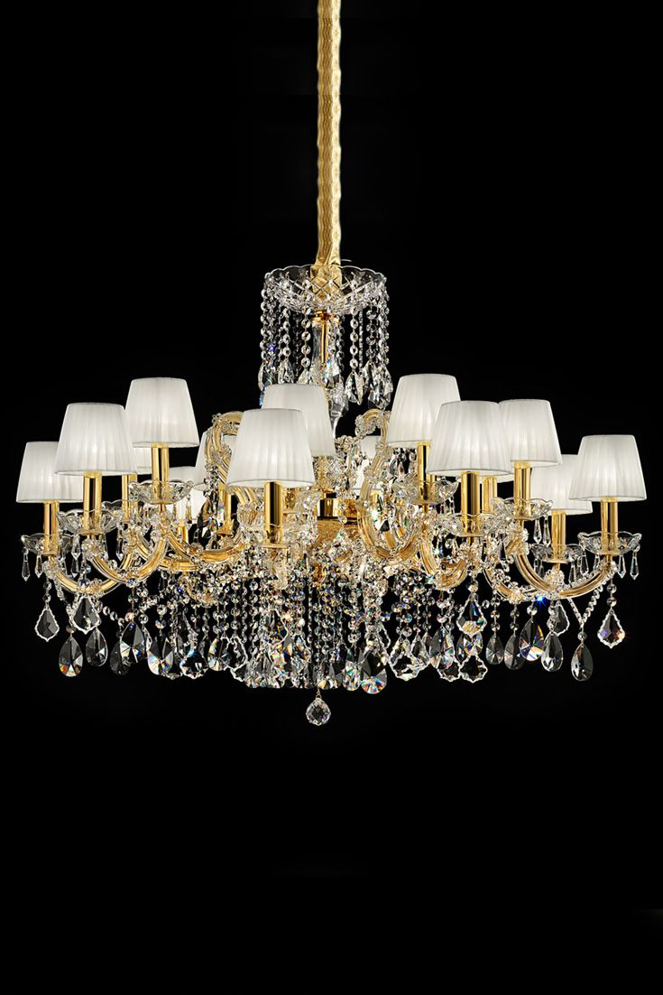 Superieur Elegant Italian Gold Plated Swarovski Crystal Chandelier | Chandeliers,  Elegant And Contemporary