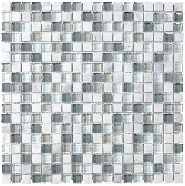 Bliss Iceland Stone And Gl Square Mosaic Tiles Online Tile S
