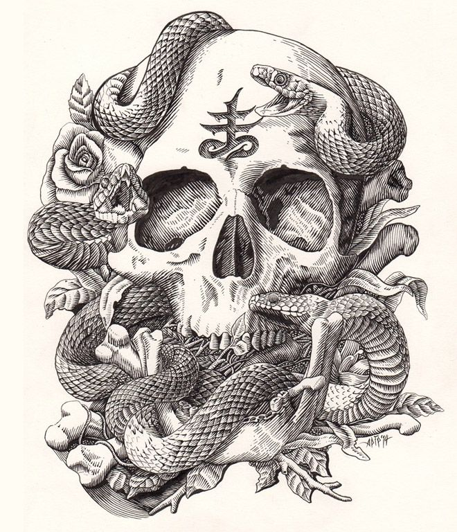40 sinister pieces of art design work featuring snakes snake 40 sinister pieces of art design work featuring snakes thecheapjerseys Choice Image