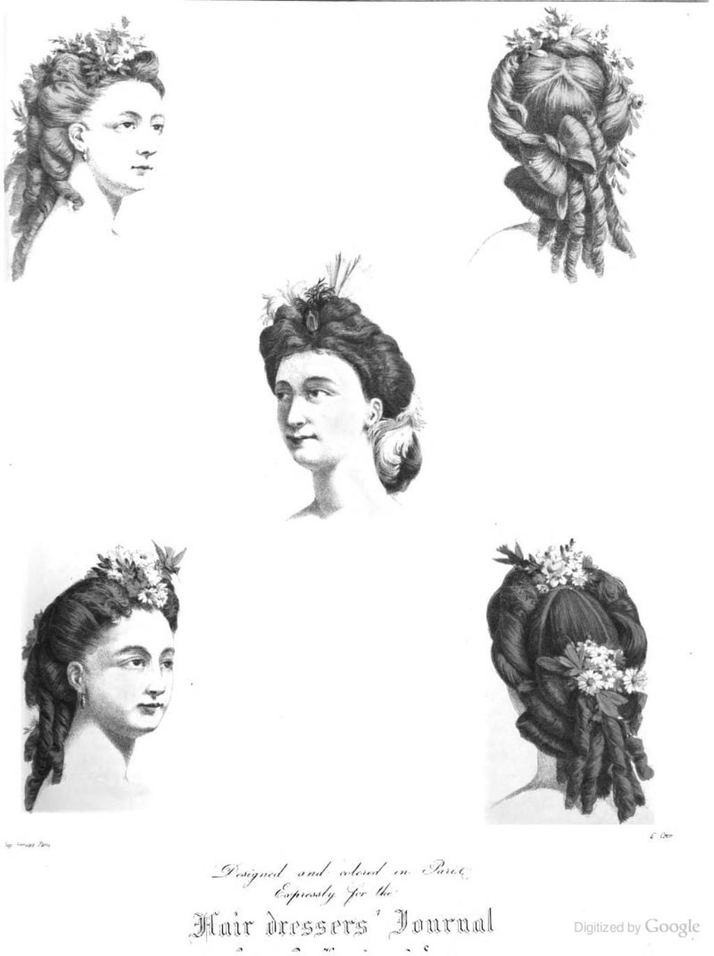 Hairdressers Journal Supplementary French Plate