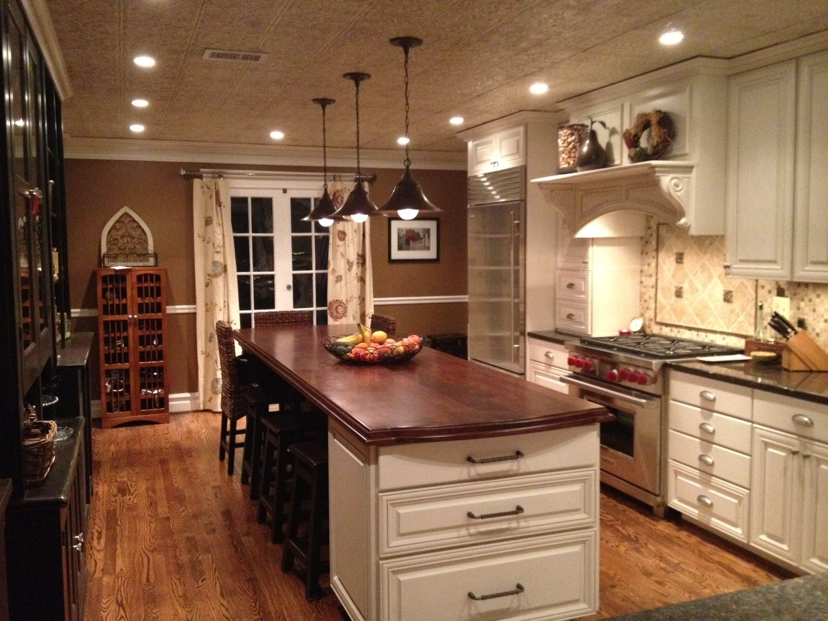 Our finished kitchen.  <3    You'll see lots of our inspiration on this board...