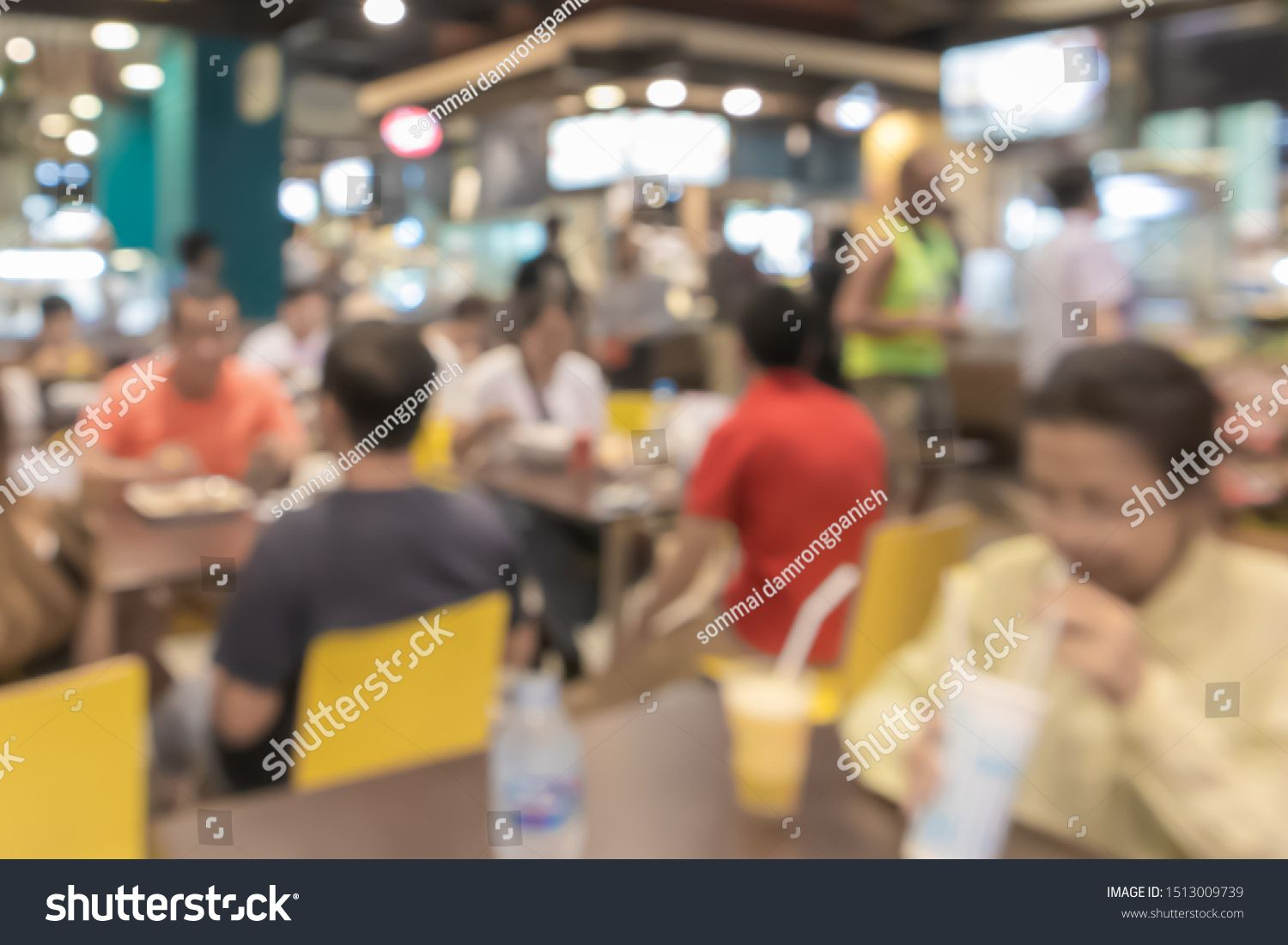 Blurred, People eating and drinking in food center of Department store, backgrounds #Sponsored , #Ad, #eating#drinking#Blurred#People