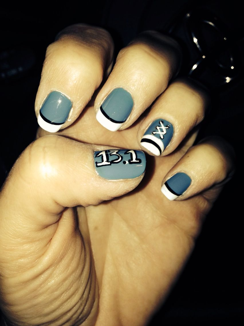 Half marathon nail design | Beckys Fun board | Pinterest | Half ...